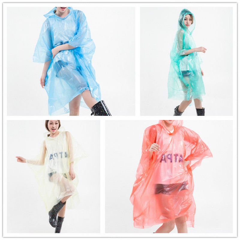 Disposable Poncho Raincoats with customized printing wholesales bulk order customised