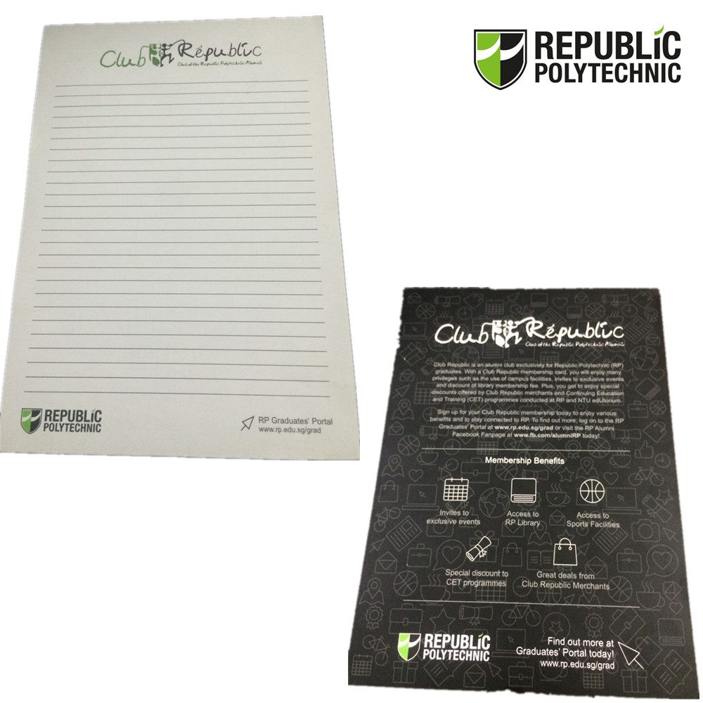 A5 Size Wire-O Notebook Make these custom reporter notebooks your next promotional or giveaway item on your upcoming event! The cover is a custom full-colour image and can be customized with other artwork or slogan.