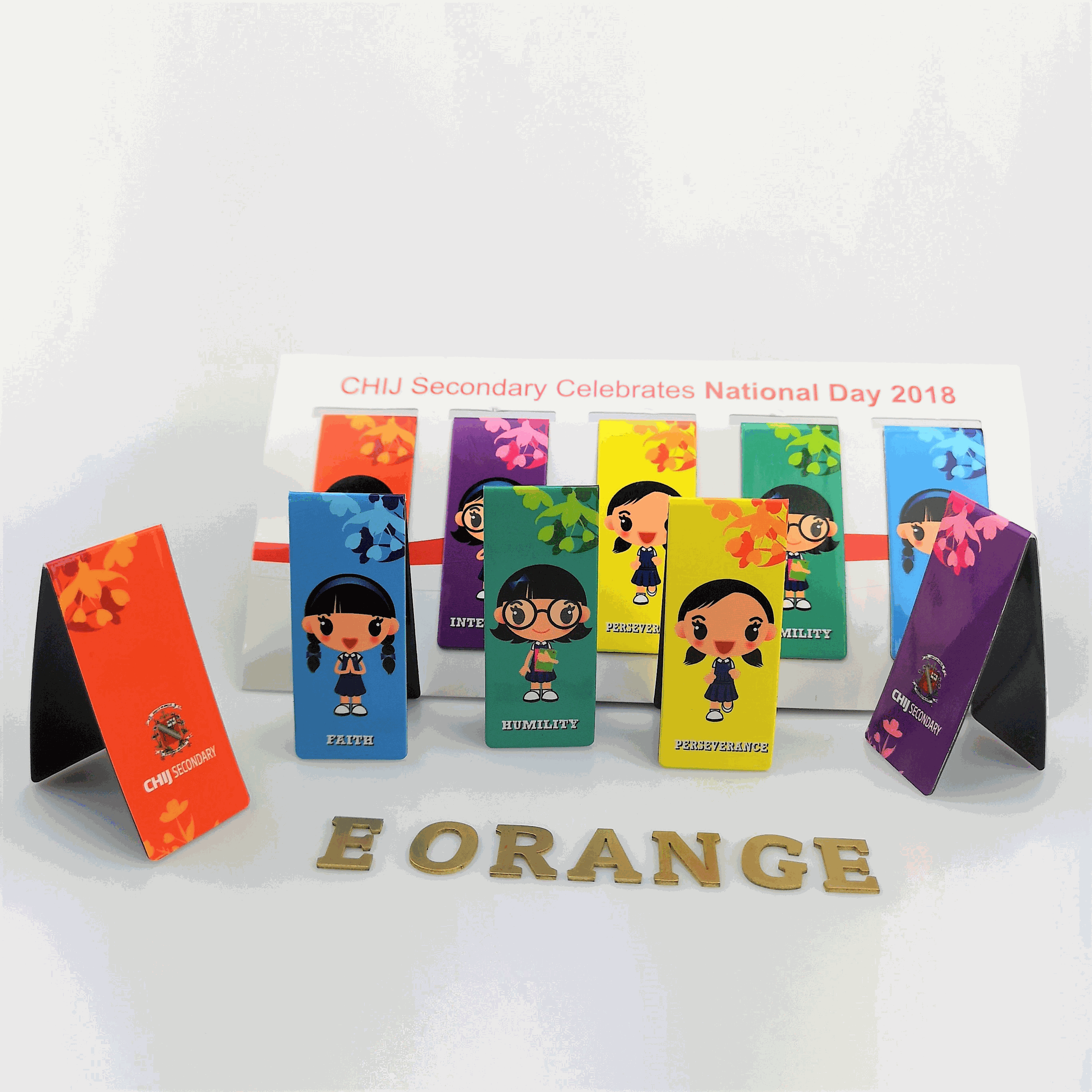 customised customized Magnet Bookmarks Sets printing logo full color colour corporate gift promotional gift giveaway door wholesale singapore supplier