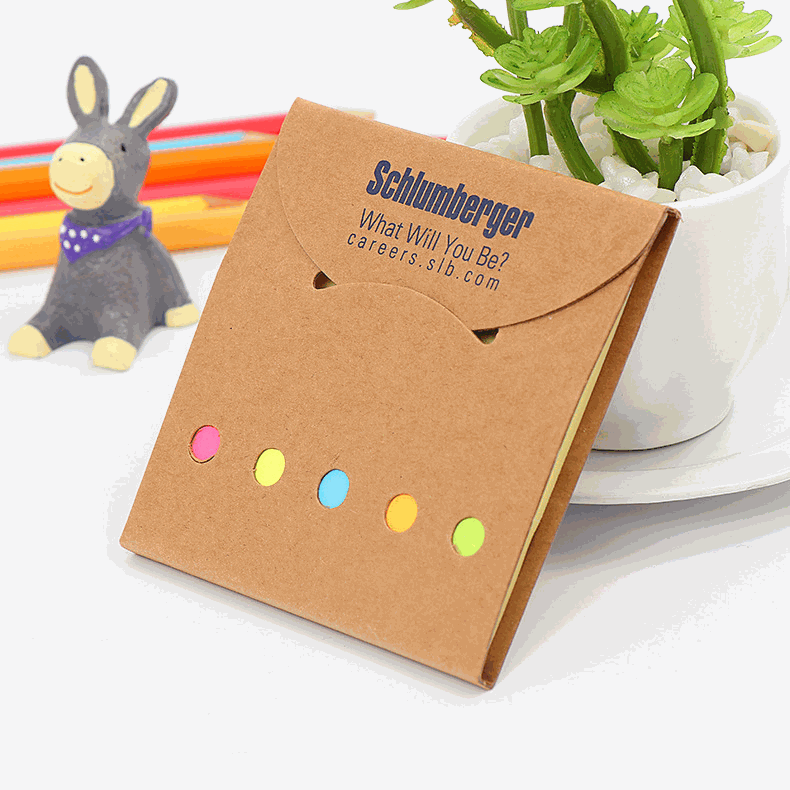 Eco-Friendly Color Flag Sticky Notepad Memo Booklets customised printing corporate gift