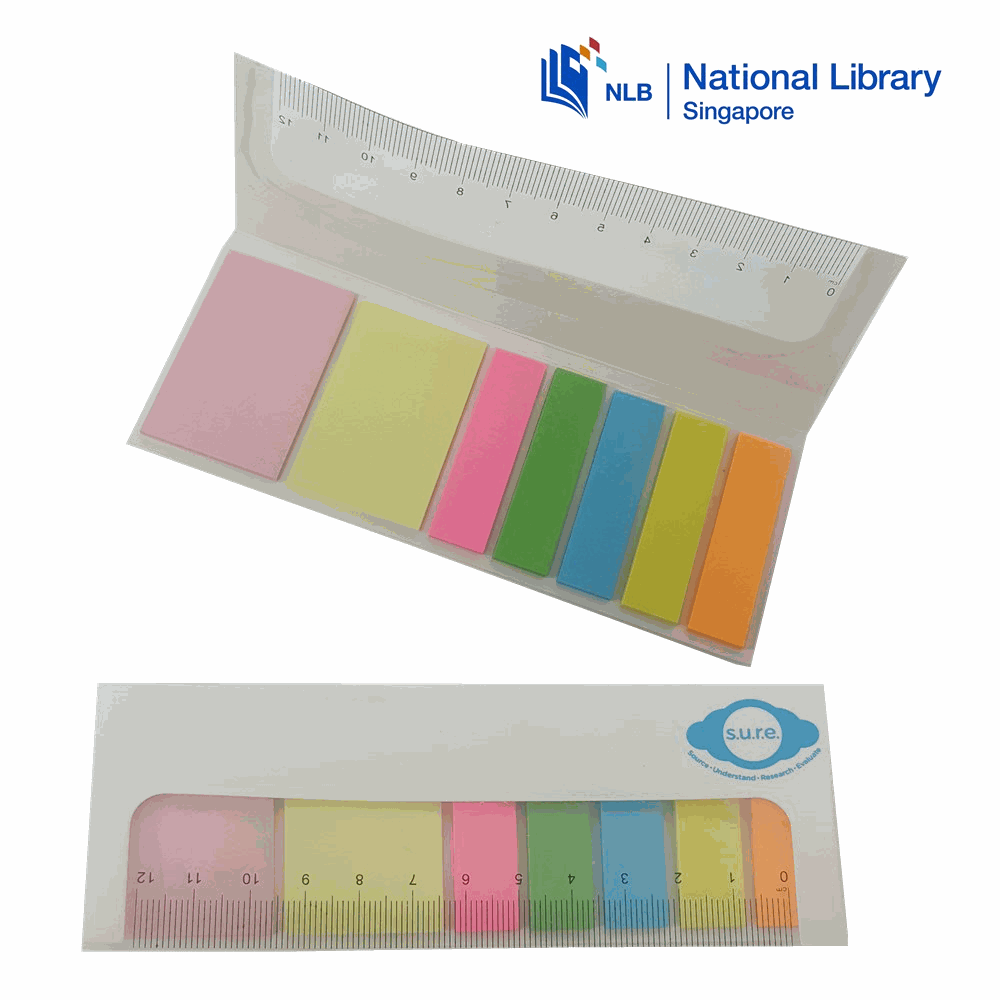 customised customized Sticky Notepads with Ruler printing logo full color colour corporate gift promotional gift giveaway door wholesale singapore supplier