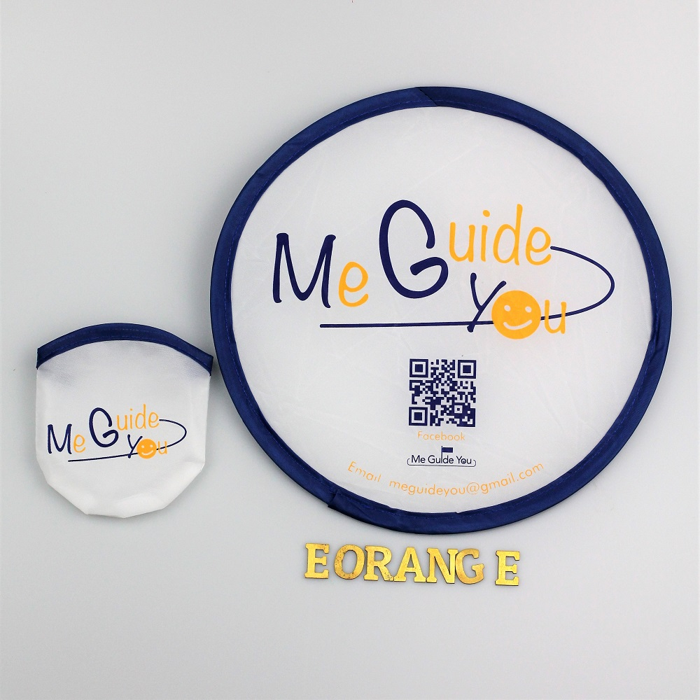 Nylon Foldable Fan for event summer giveaway customised logo print