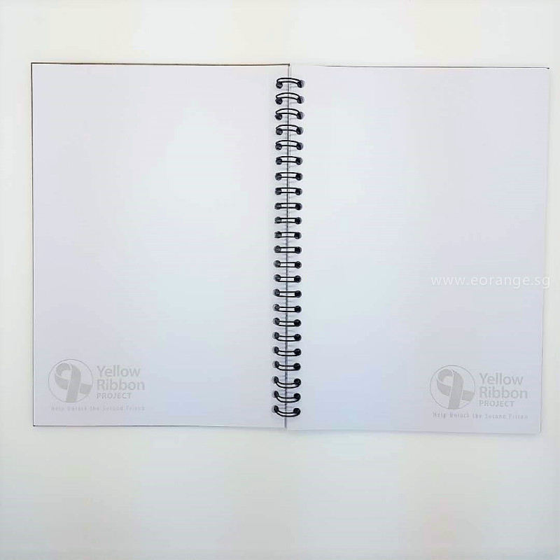 customised customized A5 wire-o Notebook printing full color colour corporate gift promotional singapore giveaway door wholesale singapore supplier