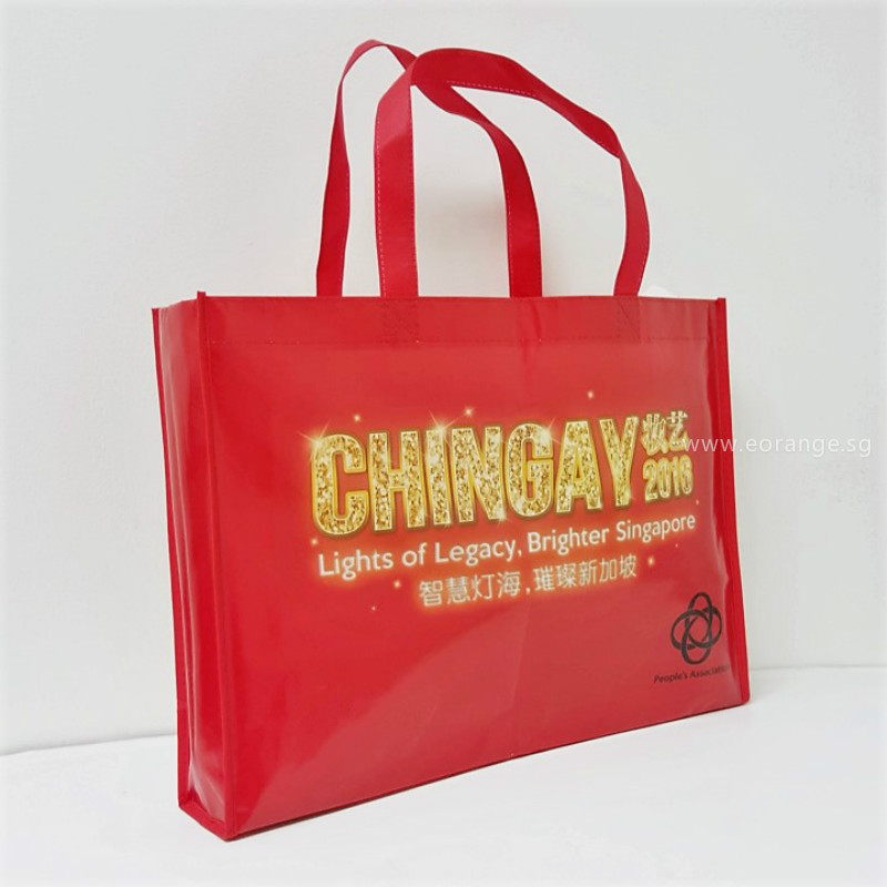 goodies bags Non-Woven Bag customise size printing logo color promotional gift singapore giveaway corporate Running race, company event, career fair, trade show, exhibition and conference.