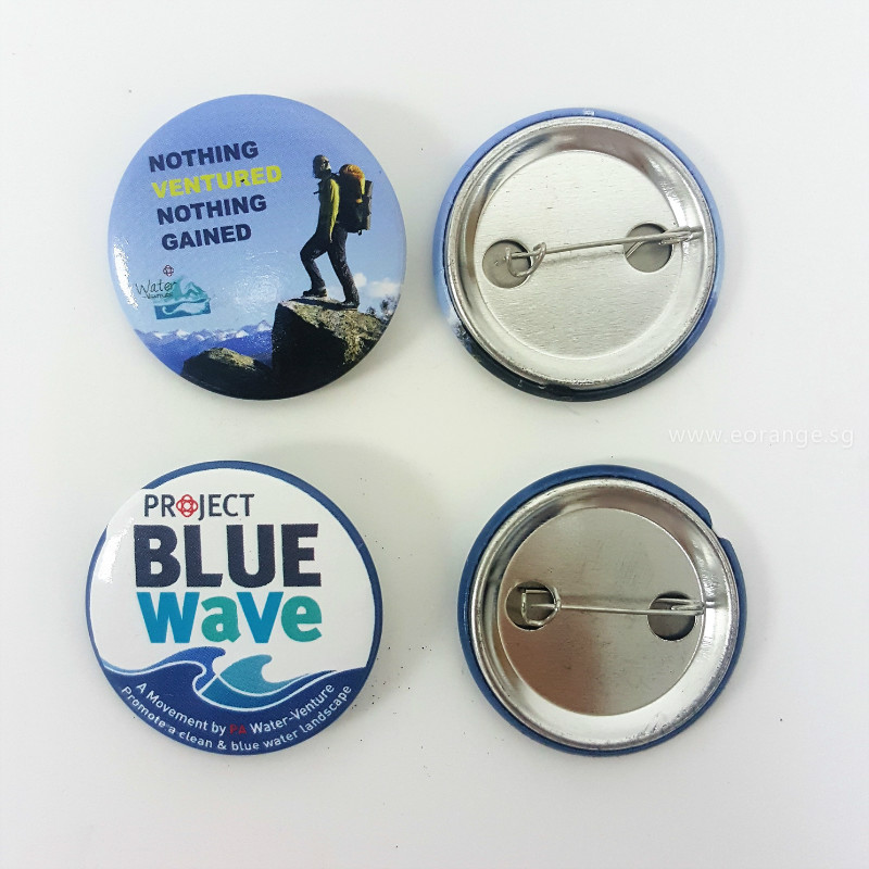 Customised Button Badge for event giveaway with logo print to promote product and services
