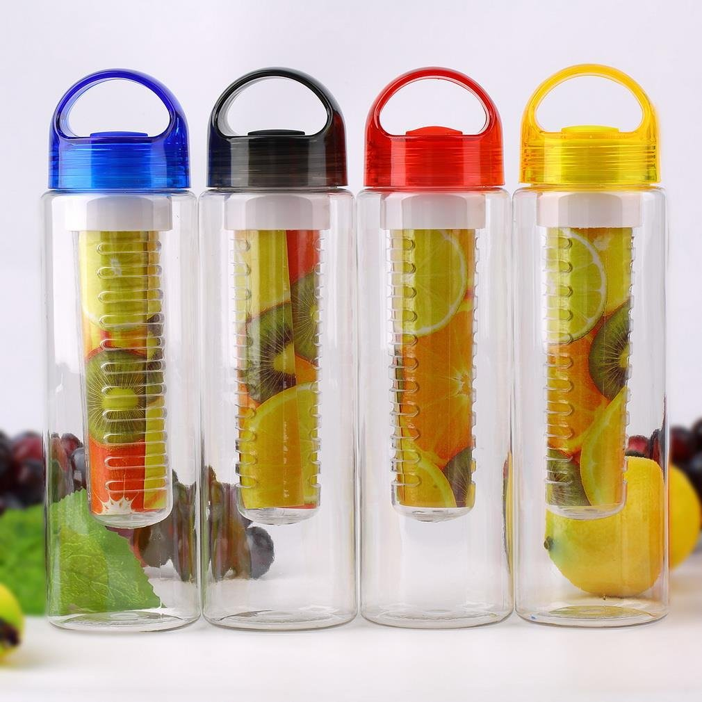Fruit Infusion Water Bottles with Twist Lid