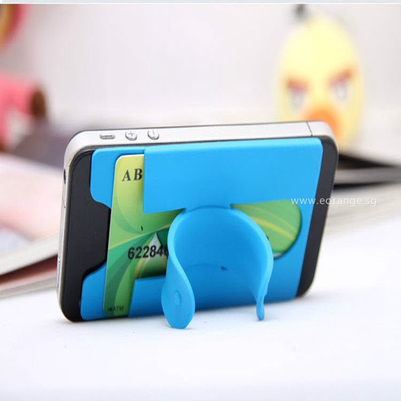 2 in 1 Silicon Phone Stand with Cardholder