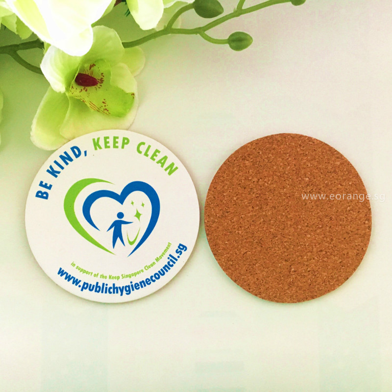 Full color printed MDF Cork coaster