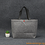 Felt Button Tote Bags