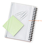 A5 Notebook with PVC Pocket Sleeve Pouch
